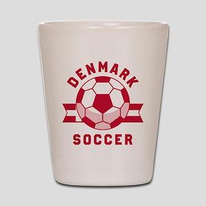 Denmark Soccer Shot Glass