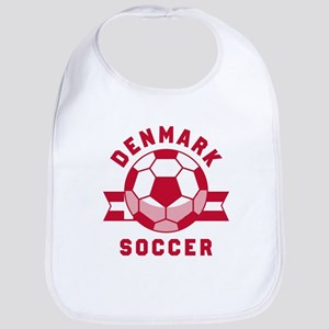Denmark Soccer Baby Bib