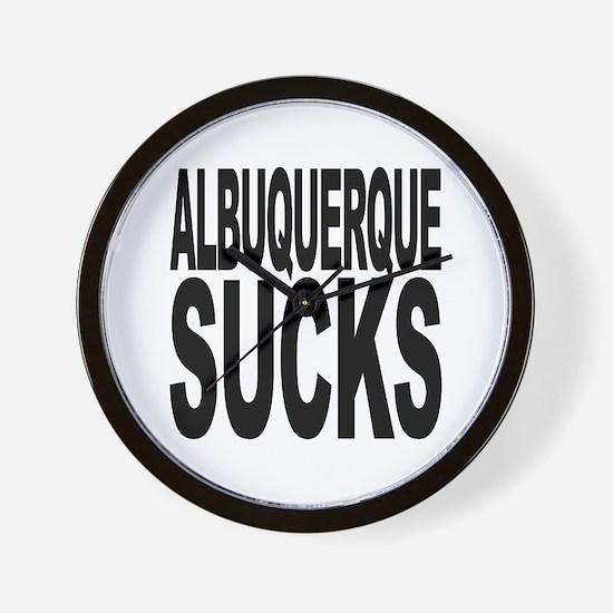 Albuquerque Sucks Wall Clock