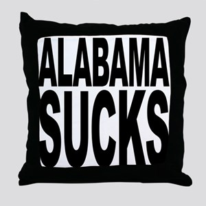 Alabama Sucks Throw Pillow