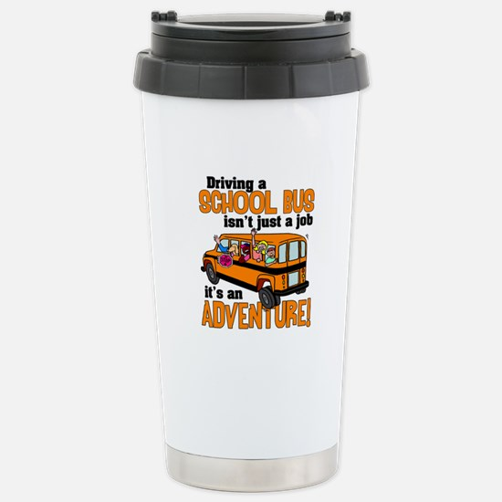 Driving a School Bus Stainless Steel Travel Mug