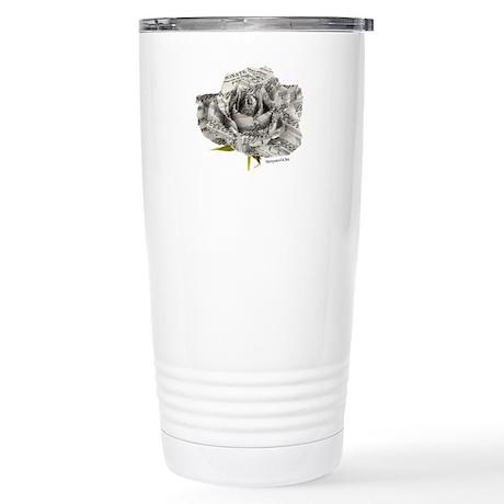 Musical Rose Stainless Steel Travel Mug