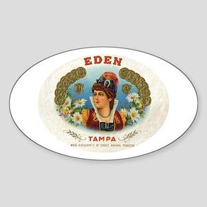 Eden Vintage Cigar Ad Tampa Oval Sticker