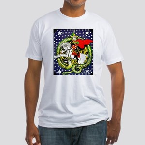 Trotsky Slaying the Dragon Fitted T-Shirt
