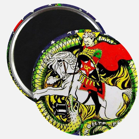 """Trotsky Slaying the Dragon 2.25"""" Magnet (10 pack)"""