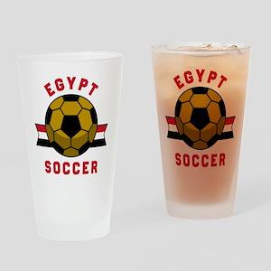 Egypt Soccer Drinking Glass