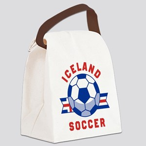 Iceland Soccer Canvas Lunch Bag