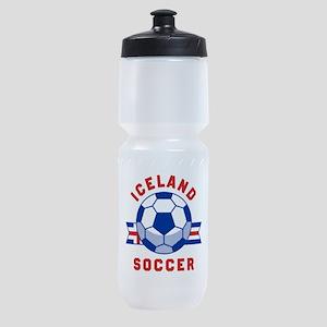 Iceland Soccer Sports Bottle