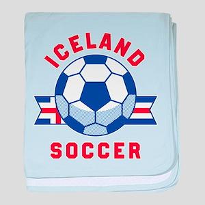 Iceland Soccer baby blanket