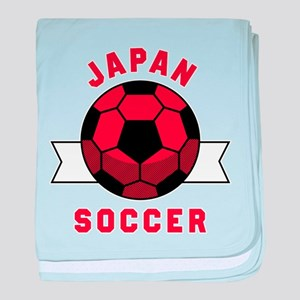 Japan Soccer baby blanket
