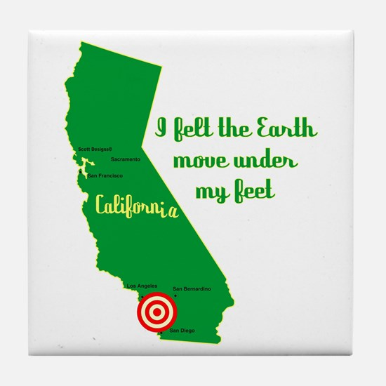 California Earthquake Tile Coaster