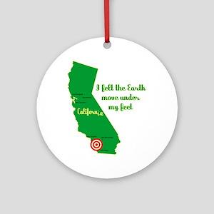 California Earthquake Ornament (Round)