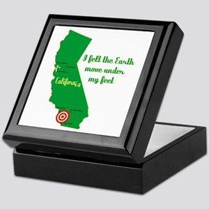 California Earthquake Keepsake Box