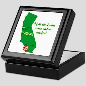 California Earthquake Keepsake Box