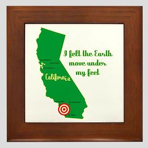 California Earthquake Framed Tile