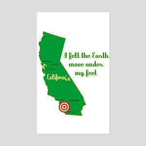 California Earthquake Sticker (Rectangle)