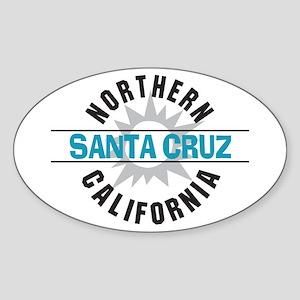 Santa Cruz California Oval Sticker