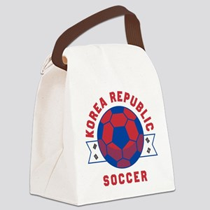 South Korea Soccer Canvas Lunch Bag