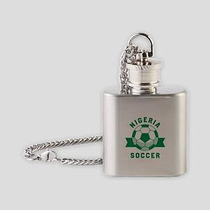 Nigeria Soccer Flask Necklace