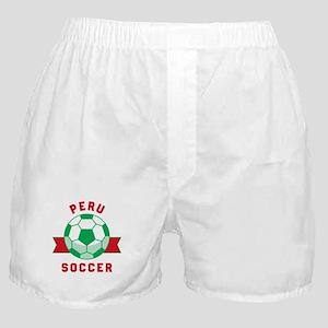 Peru Soccer Boxer Shorts