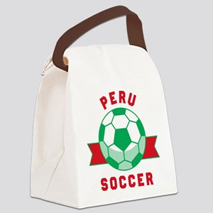 Peru Soccer Canvas Lunch Bag