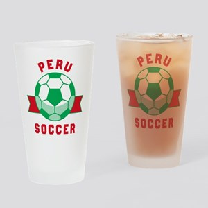 Peru Soccer Drinking Glass