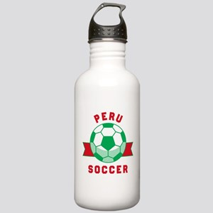 Peru Soccer Water Bottle
