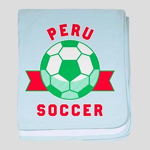 Peru Soccer baby blanket