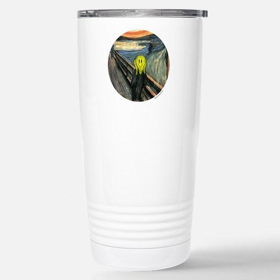 Smiley Scream Stainless Steel Travel Mug