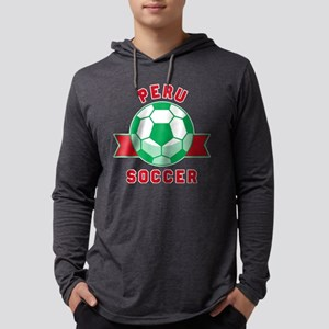 Peru Soccer Long Sleeve T-Shirt