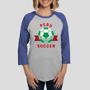 Peru Soccer Long Sleeve T-Shirt