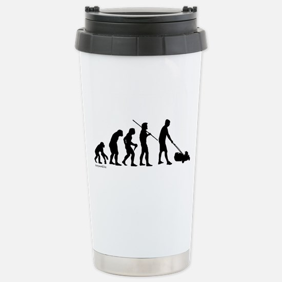 Lawnmower Evolution Stainless Steel Travel Mug