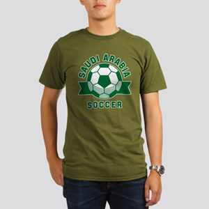 Saudi Arabia Soccer Organic Men's T-Shirt (dark)