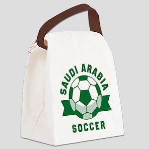 Saudi Arabia Soccer Canvas Lunch Bag
