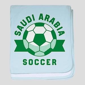 Saudi Arabia Soccer baby blanket
