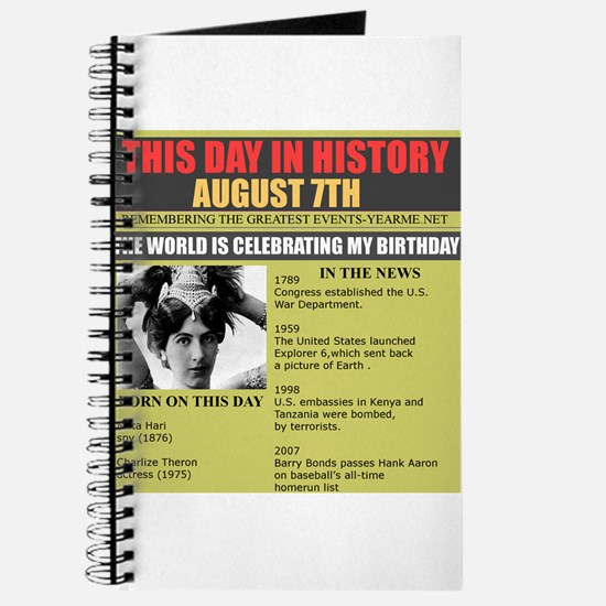 august 7th-birthday Journal