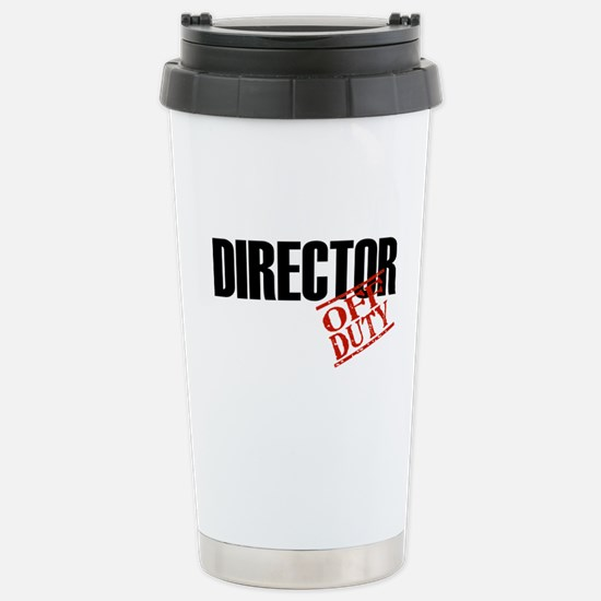 Off Duty Director Stainless Steel Travel Mug
