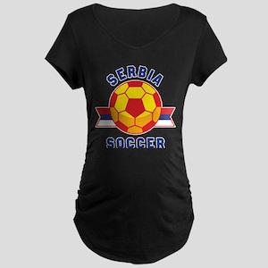 Serbia Soccer Maternity T-Shirt