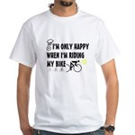 Only Happy Riding White T-Shirt