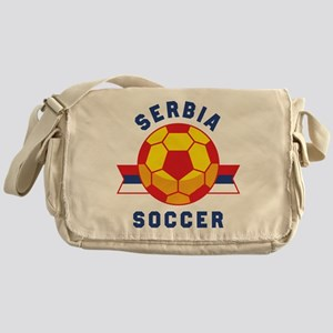 Serbia Soccer Messenger Bag