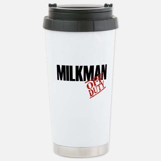 Off Duty Milkman Stainless Steel Travel Mug