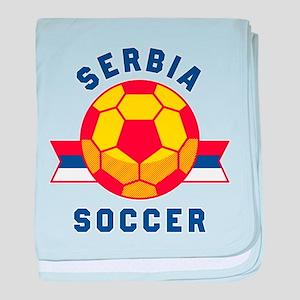 Serbia Soccer baby blanket