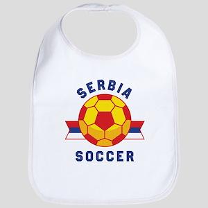 Serbia Soccer Baby Bib