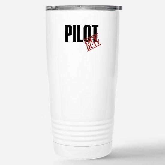 Off Duty Pilot Stainless Steel Travel Mug