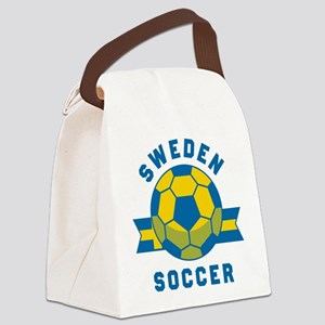 Sweden Soccer Canvas Lunch Bag