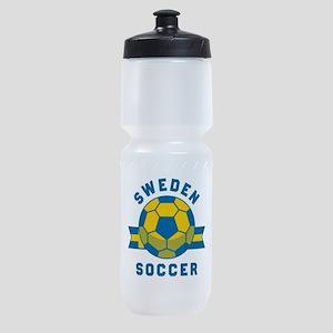 Sweden Soccer Sports Bottle
