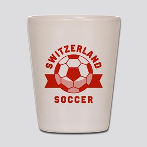 Switzerland Soccer Shot Glass