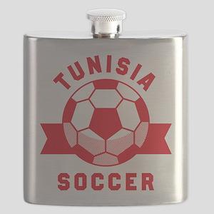 Tunisia Soccer Flask