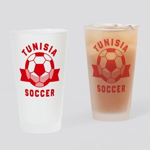 Tunisia Soccer Drinking Glass