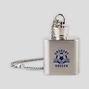 Uruguay Soccer Flask Necklace